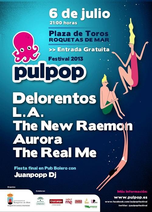 Delorentos, The New Raemon o L.A, en el cartel del gratuito Pulpop Festival 2013